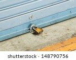 Close Up Shutter Door With Key...