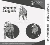 sheep brand connection logo... | Shutterstock .eps vector #1487920436