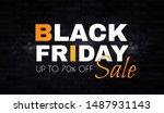 black friday. sale banner... | Shutterstock .eps vector #1487931143