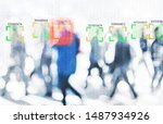 face recognition technology... | Shutterstock . vector #1487934926