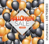 halloween sale banner page with ...   Shutterstock .eps vector #1487938583