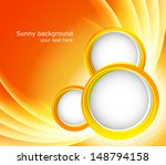 orange background with circles | Shutterstock .eps vector #148794158