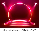 abstract round podium... | Shutterstock .eps vector #1487947199