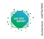 interesting fact label... | Shutterstock .eps vector #1487967890