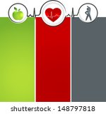 wellness and healthy heart... | Shutterstock .eps vector #148797818