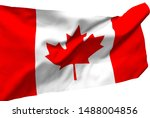 canada flag is waving in the... | Shutterstock . vector #1488004856