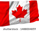 canada flag is waving in the... | Shutterstock . vector #1488004859