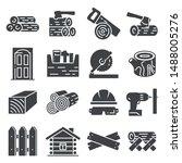 carpentry industry equipment... | Shutterstock .eps vector #1488005276