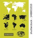 world map | Shutterstock .eps vector #148801010