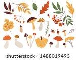 Autumn Leaves. Yellow Autumnal...
