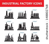 industrial factory icons  ... | Shutterstock .eps vector #148802768
