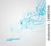 futuristic technology... | Shutterstock .eps vector #148803446