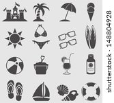 beach icon set.vector | Shutterstock .eps vector #148804928