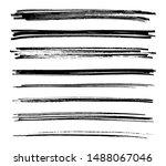 hand painted brush strokes....   Shutterstock .eps vector #1488067046