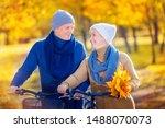 senior couple relaxing outdoors ... | Shutterstock . vector #1488070073
