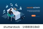 cyber security isometric... | Shutterstock .eps vector #1488081860