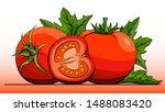 vector simple illustration... | Shutterstock .eps vector #1488083420