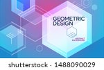 abstract vector background.... | Shutterstock .eps vector #1488090029