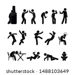 drunk people in different... | Shutterstock .eps vector #1488103649