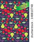 cherry  strawberry  pear | Shutterstock .eps vector #148810748