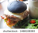 American Black Charcoal Burger...