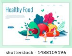 concept of healthy eating ... | Shutterstock .eps vector #1488109196