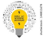 doodle set   info graphic... | Shutterstock .eps vector #148811678