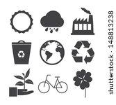 eco icons set. vector eps 10 | Shutterstock .eps vector #148813238