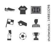 soccer football icons vector...