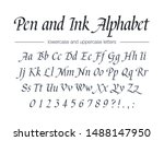 pen and ink alphabet. universal ... | Shutterstock .eps vector #1488147950