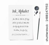 universal handwritten font.... | Shutterstock .eps vector #1488147953
