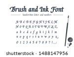 hand drawn alphabet written... | Shutterstock .eps vector #1488147956
