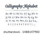 calligraphy alphabet. universal ... | Shutterstock .eps vector #1488147983
