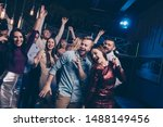 Stock photo portrait of cute charming feel funky funny person people move movement dance floor content cheerful 1488149456