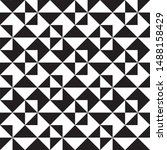 repeating black and white... | Shutterstock .eps vector #1488158429