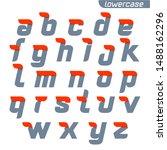lowercase alphabet logo with... | Shutterstock .eps vector #1488162296