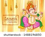 vector design of indian lord... | Shutterstock .eps vector #1488196850
