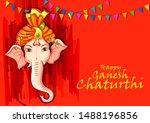 vector design of indian lord... | Shutterstock .eps vector #1488196856