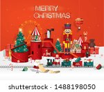 christmas toyshop winter... | Shutterstock .eps vector #1488198050