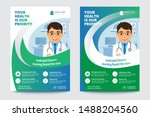 medical brochure. flyer design. ... | Shutterstock .eps vector #1488204560