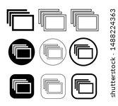 simple windows tab icon sign...