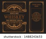 vintage label template on a... | Shutterstock .eps vector #1488243653