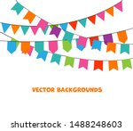 party background with bunting... | Shutterstock .eps vector #1488248603