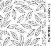 tree foliage vector seamless... | Shutterstock .eps vector #1488269246