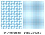 Simple Vector Pattern With Blu...