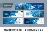 abstract banner design web... | Shutterstock .eps vector #1488289913