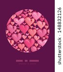 red valentine's day hearts... | Shutterstock .eps vector #148832126