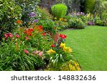 Green Lawn In A Colorful...