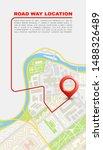 city map navigation banner ...   Shutterstock .eps vector #1488326489