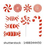 Red Candy Set. Christmas Candy...